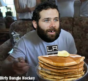 dustin penner pancakes stanley cup eating